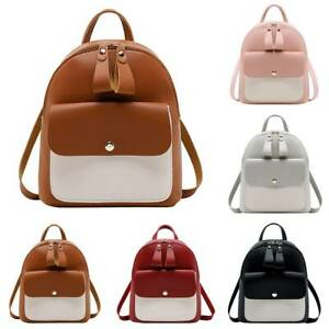 LadyGirls Mini Backpack Colorblock Travel Shoulder Bags Rucksack School Bag Hot