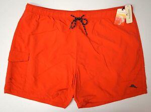 NWT $75 Tommy Bahama Red Orange Swim Trunks RELAX Mens 2XB 3XB 4XB Board Shorts