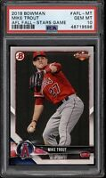 2018 Bowman Mike Trout AFL Fall Stars Game #AFL-MT PSA 10 Gem Mint POP 3 Rare!