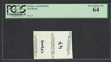 Ceylon- Central Bank Test Proof Vignette Uncirculated