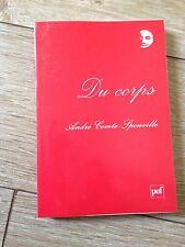 du corps André Comte-Sponville PUF 2009
