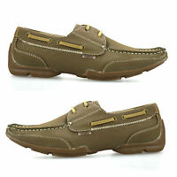 Mens Casual Leather Boat Deck Mocassin Lace Designer Loafers Driving Shoes Size