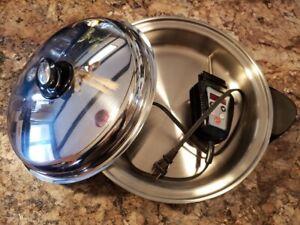 "Brand New SALADMASTER 12"" Electric Oil Core Skillet w/Cover 316Ti Titanium Steel"