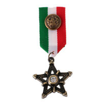 Military Badge Brooch Pin Star Shape Medal Ribbon Costume Party Dress Gifts