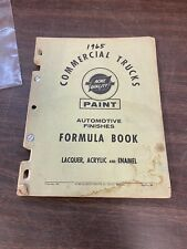 1965 ACME COMMERCIAL TRUCK PAINT FINISH FORMULA BOOK DEALER CATALOG ORIGINAL