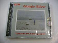 GIORGIO GABER - E PENSARE CHE C'ERA IL PENSIERO - 2CD SIGILLATO