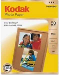 "Kodak instant dry 50 sheet Gloss 8.5"" x 11"" Photo Paper"