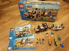 Lego City transportador de bici de la suciedad (4433) en caja de figuras de las instrucciones completas