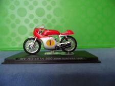MODELLINO MOTOCICLETTA METALLO-1/24-MV AGUSTA 500-JOHN SURTEES-1956