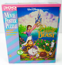 Vintage Beauty + The Beast Movie Poster Puzzle Jumbo Size 300pc Complete Golden