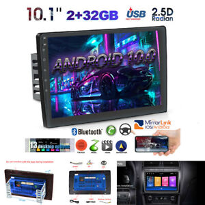 """10.1"""" Touch Screen Car Android10.0 Double DIN Stereo Radio Player GPS Navi 2+32G"""