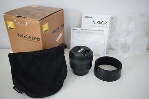 Nikon Nikkor AF-S 50mm Prime Lens with accessories, original packaging & manual