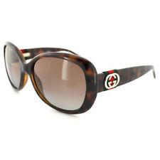 Gafas de sol de mujer marrones Gucci de plástico