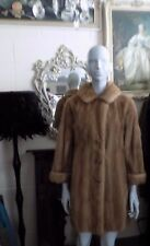FABULOUS VINTAGE REAL MINK BLONDE  FUR COAT