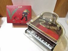 Two Vintage Music Boxes Piano And Switzerland As Is