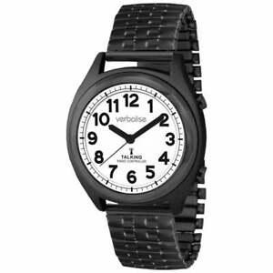 Verbalise Talking Watch with Black Expanding Strap VBK93-EBK