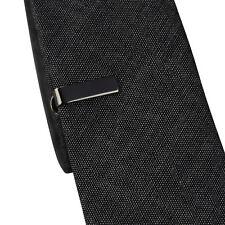 Hommes Garçons 2cm Noir Gris Pince à cravate fin STANDARD SLIM Clasp épingle