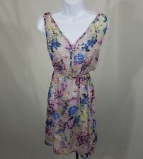 Bar III Sheer Floral Dress Size Small