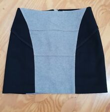 Country Road womens wool skirt mini skirt size 10 black grey fully lined #121