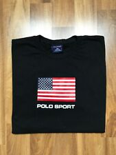 T-Shirt Polo Sport Ralph Lauren BIG LOGO Made In USA Size Large Mens