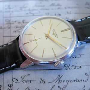 Longines Mens watch Vintage Swiss Made watch 1960s, Silver Dial Cal: 12.68Z TOP
