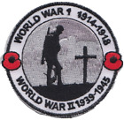 World War 1 and 2 WW1 WWII Centenary We Will Remember Embroidered Patch
