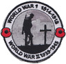 World War 1 and 2 WW1 WWII Centenary We Will Remember Embroidered Badge Patch