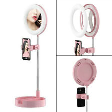 """6"""" Dimmable LED Ring Light Desktop Mirror Lamp For Phone Stream Broadcast Makeup"""