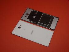 Original Sony Xperia M2 Aqua D2403 Akkudeckel Deckel Backcover Kamera Glas Weiß