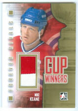 "MIKE KEANE ""2 COLOR GOLD CUP WINNERS GAME USED JERSEY"" FOREVER RIVALS CANADIENS"