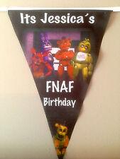 Personalised Custom Print Five Nights at Freddys Bunting  Birthday  X10 2.8M