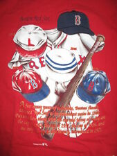 Nutmeg Cooperstown BOSTON RED SOX Embroidered Caps & Jerseys (LG) T-Shirt
