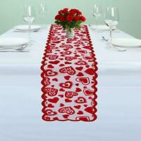 13x72inch Red Lace Table Runner Doily Wedding Party Valentines Day Decor Gift