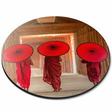 Round Mouse Mat - Pagoda Myanmar Burma Umbrella Office Gift #3545