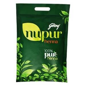 Godrej Nupur Herbal Mehandi Henna Powder Natural Hair Color 1.2kg FREE POSTAGE