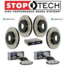 Front Rear StopTech Drilled Slotted Brake Rotors Fleet Pads Kit For Lexus Toyota