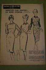 """ MODES de PARIS "" PATRON SUPPL. DU N°646 // LA ROBE JUMPER TAILLES 42 & 44"
