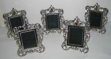 5 kleine Bilderrahmen Portraitrahmen Tischrahmen, silberfn Antik Stil Italy 11x8