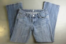 7 for all mankind a pocket womens blue faded denim bootcut jeans 28 boot cut
