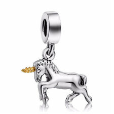 1Pc Antique Silver Unicorn Horse Ponny Charms Pendant Neckalce Jewelry Finding