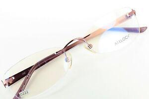 AIRLOCK SHATTERED 205 601 Rose Mosaic 52-18-135 Rimless Eyeglass Frames O222