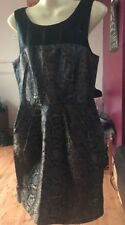Ladies Beautiful Black And Gold Dress Party Christmas Eur Size 38 Uk Size 10 Vgc