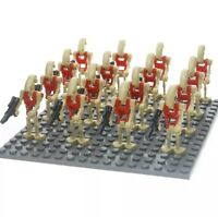 16x Red Battle Droid Figures (LEGO STAR WARS Compatible)