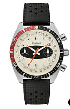 Bulova 98A252 Surfboard Chronograph A Black Leather Strap 40.5mm Watch