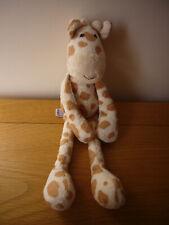 "Marks & Spencer M&S Jeffrey giraffe baby comforter soft plush stuffed toy 12"""
