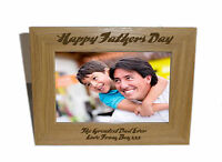 Happy Fathers Day Wooden Photo Frame 6 x 4-Personalise this frame-Free Engraving