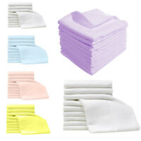 Large Muslin Squares Baby Cloth Reusable Nappy Bibs Wipe 100%Cotton high quality