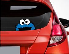 Cookie Monster funny Car or Van Window / Bumper Decal Sticker