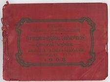 1908 CENTRAL NEW YORK VOLUNTEER FIREMEN Association Program OWEGO NY Fire ILLUS