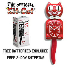 "SCARLET KIT CAT CLOCK 15.5"" MADE IN USA Official Klock- Free Batteries! New!!!!!"